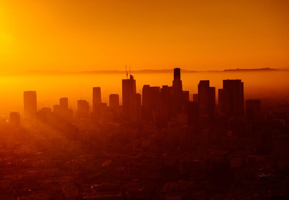 silhouette photo of city skyline