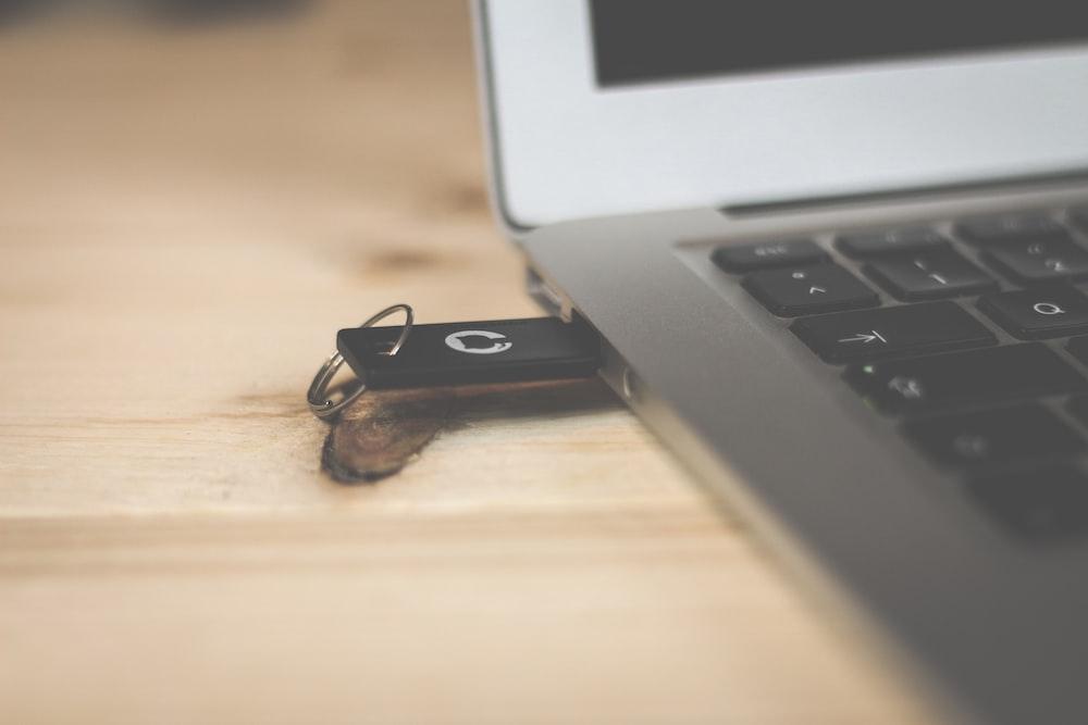 black USB flash drive