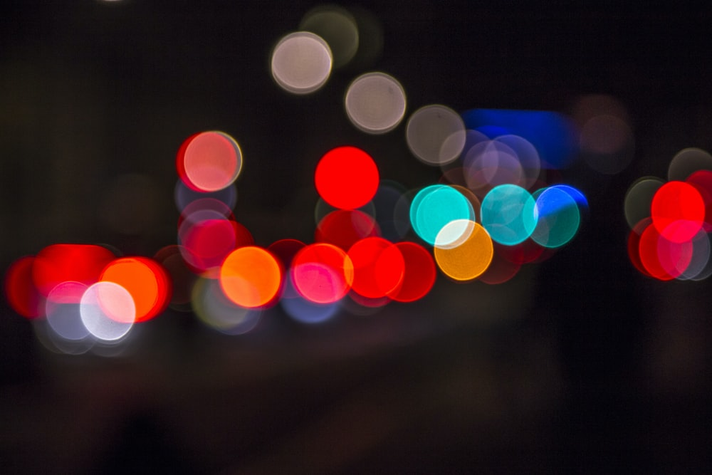 blue and white bokeh lights