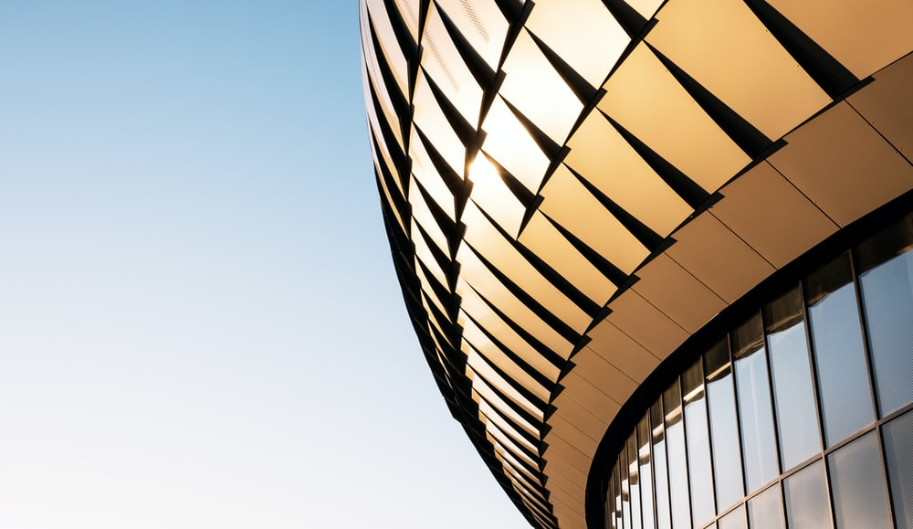 abstract golden building
