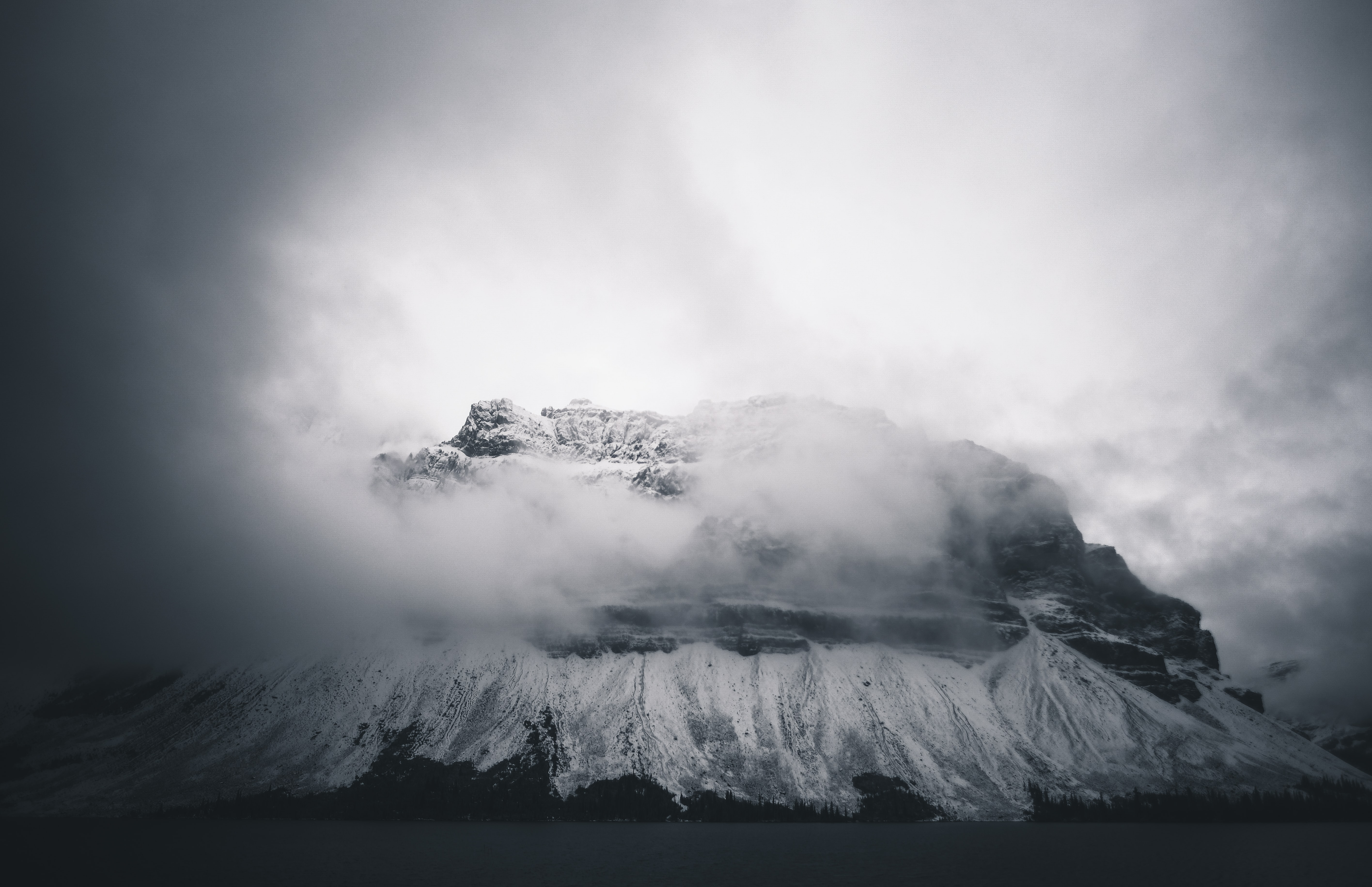 mountains cover with snow