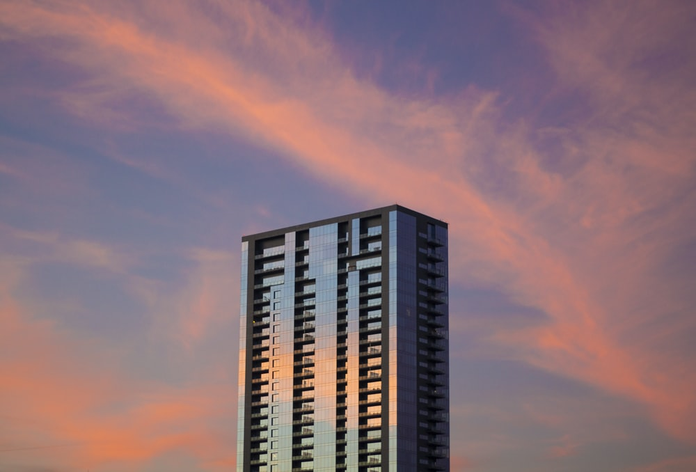 landscape photography of building