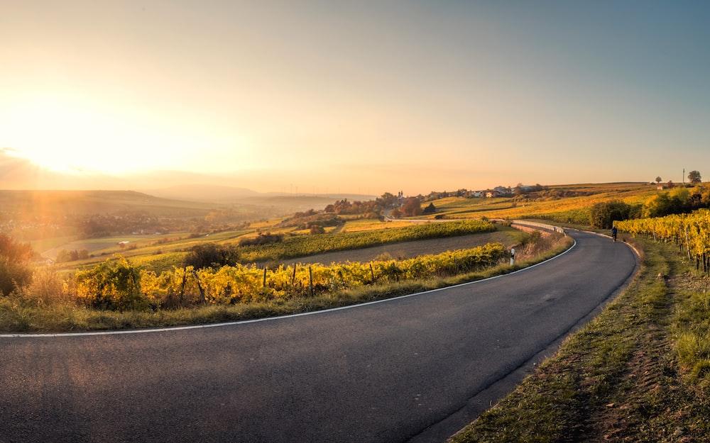 landscape photo of asphalt road