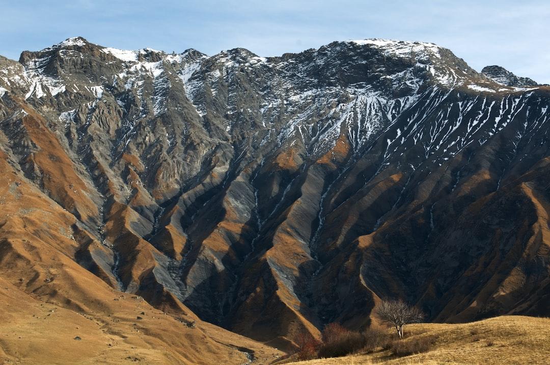 Mountain side folds