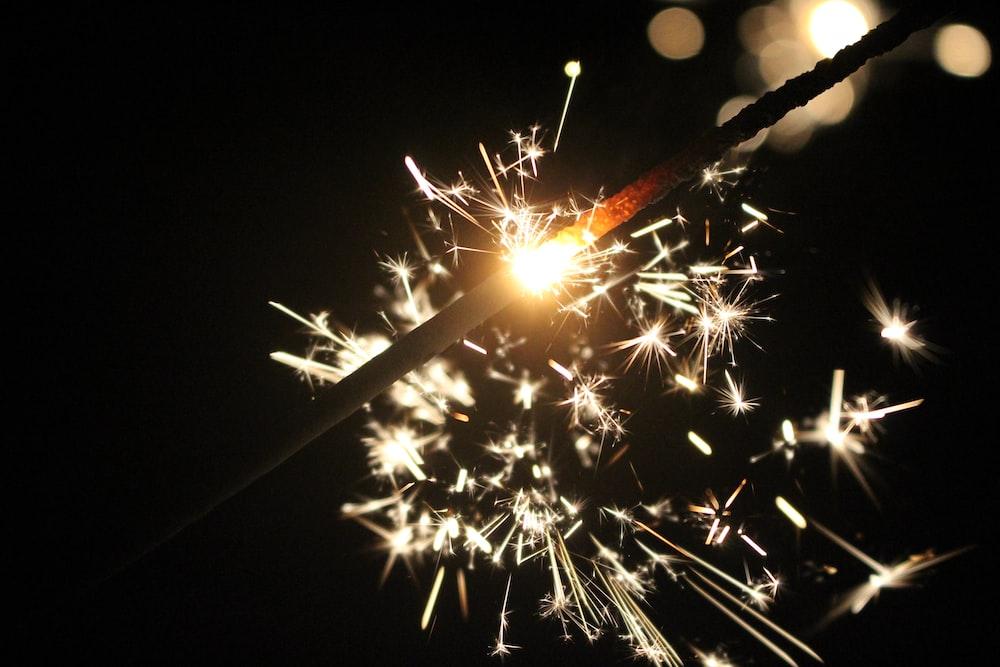 closeup photography of sparkle