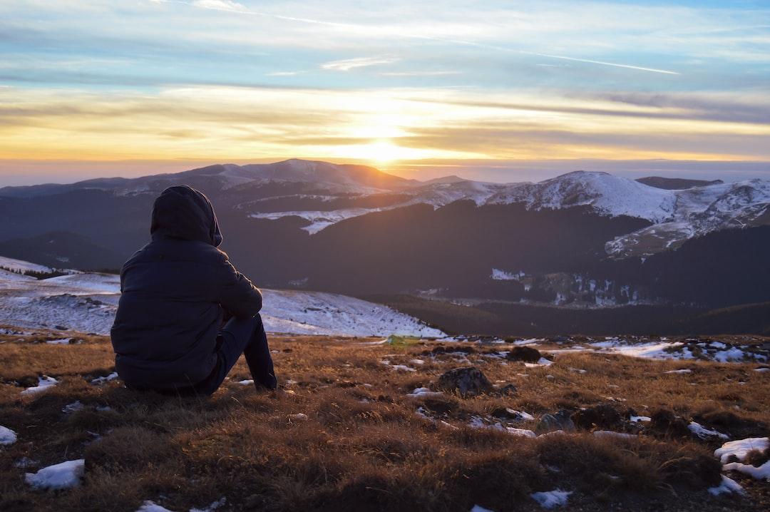 Sunset watching on Sinaia mountain