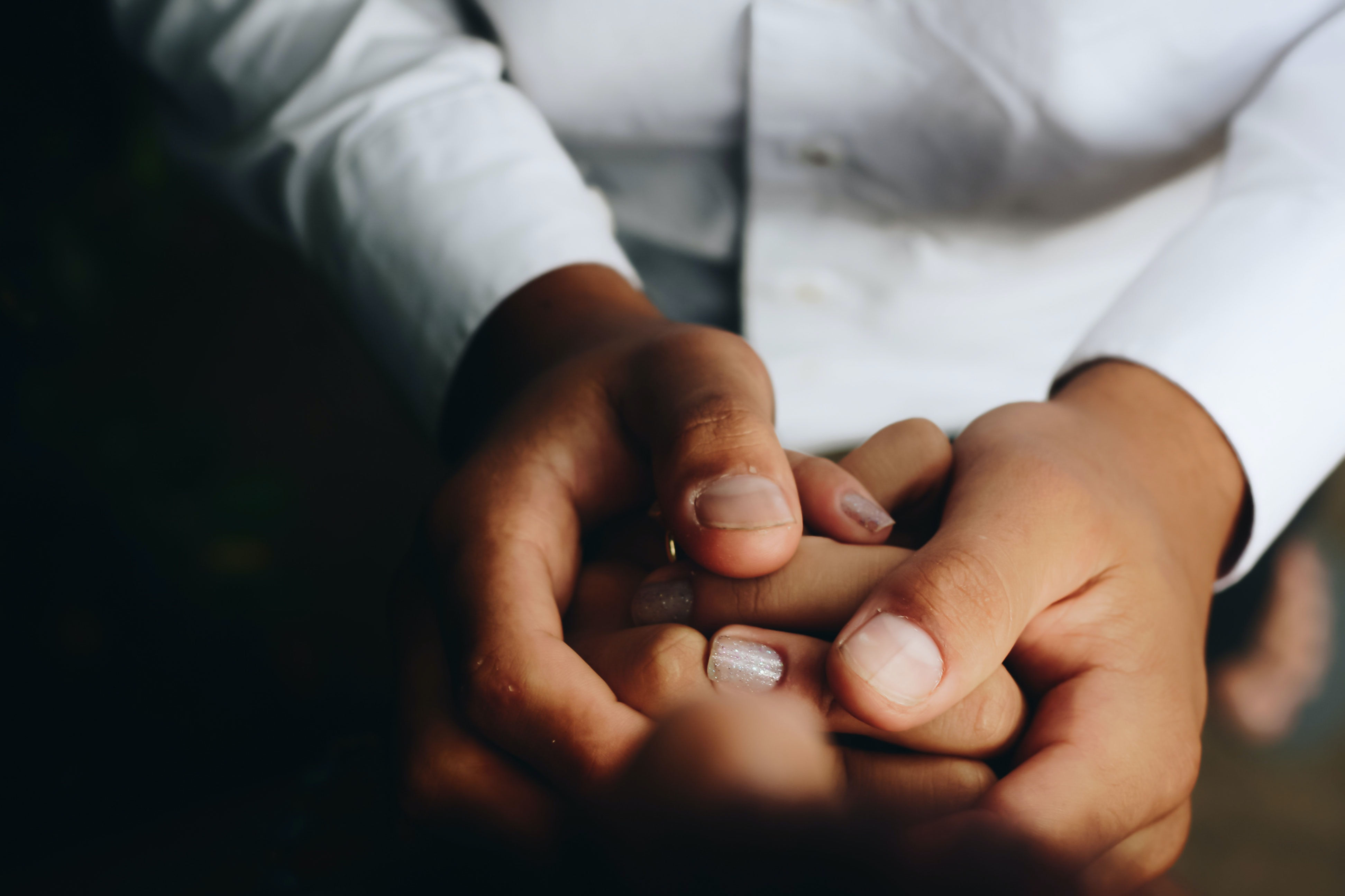 person holding hands