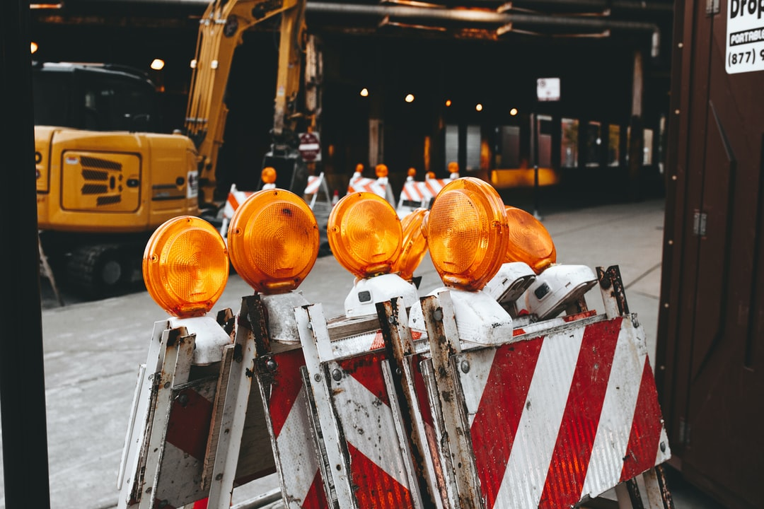 Construction site barricades