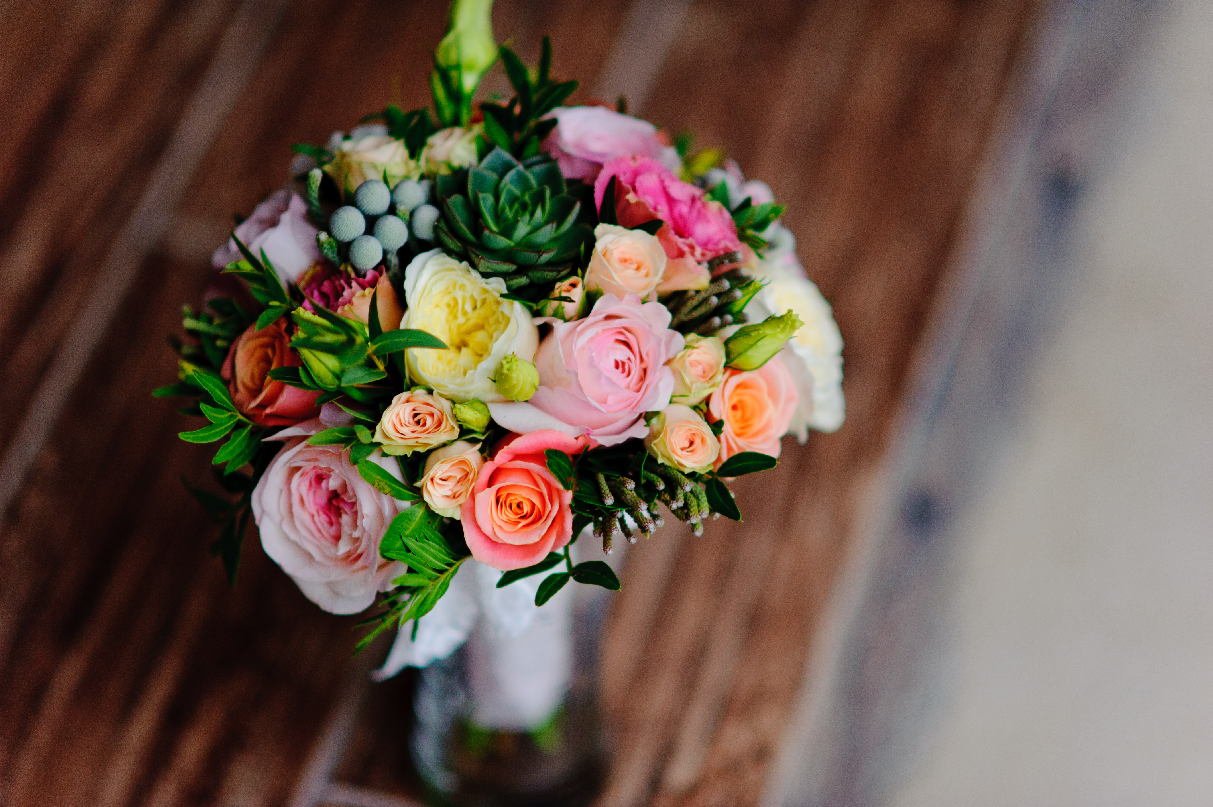 rose bouquet on table top