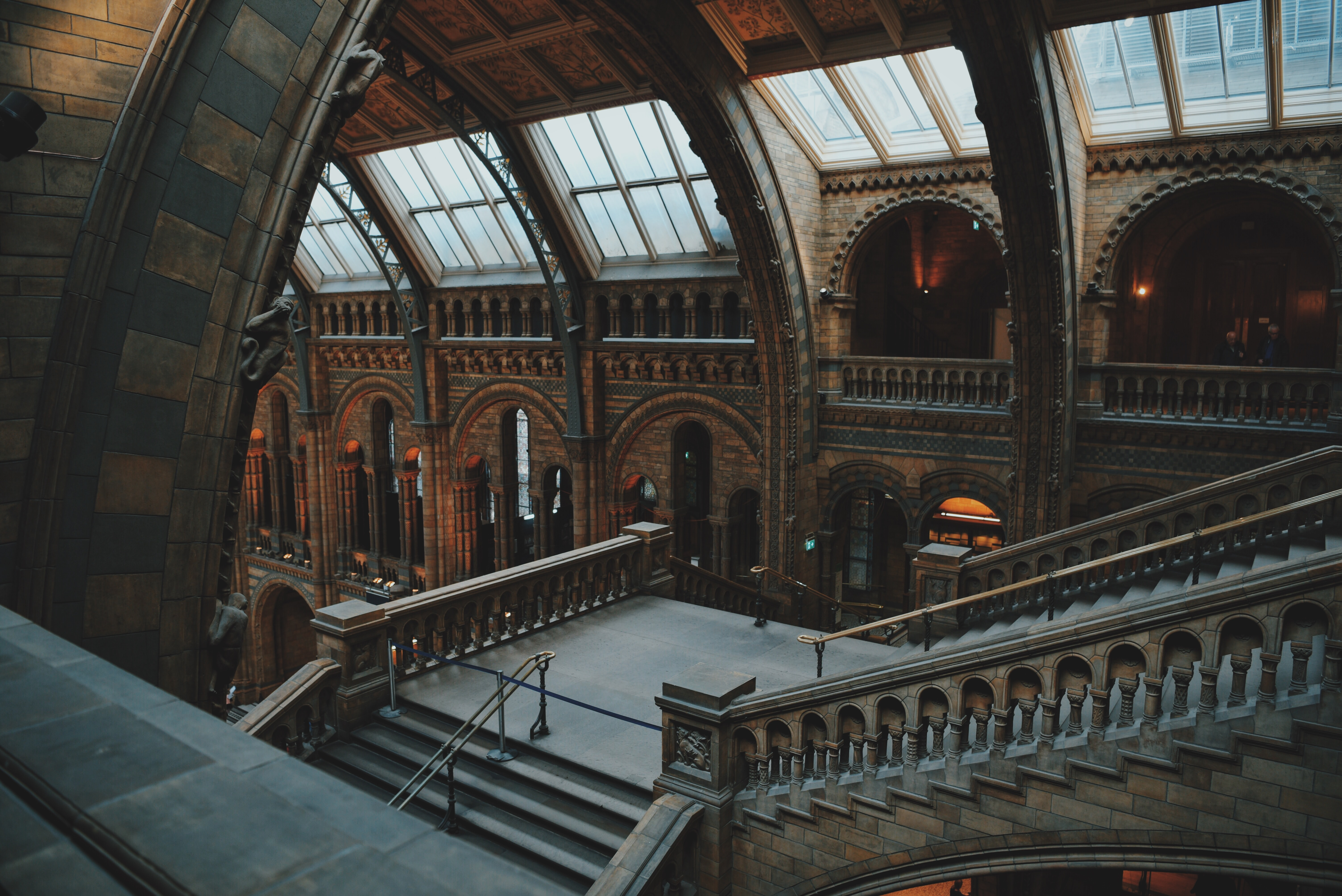 The monumental interior of the National History Museum in London
