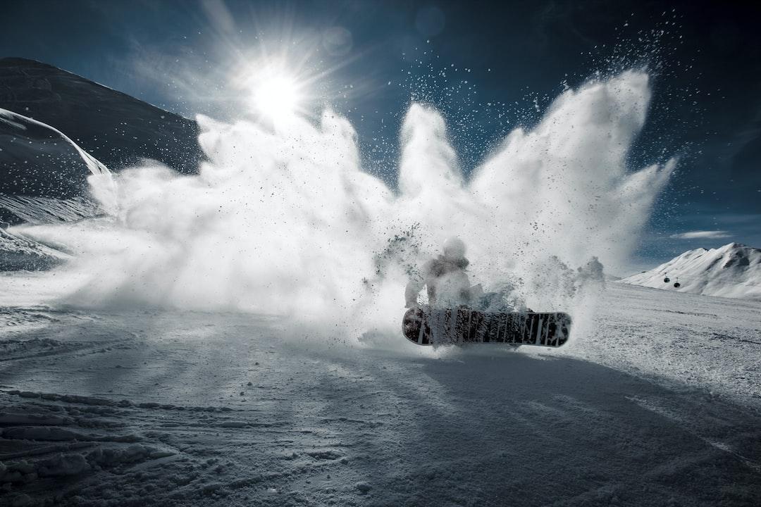 Snowboarder in Davos
