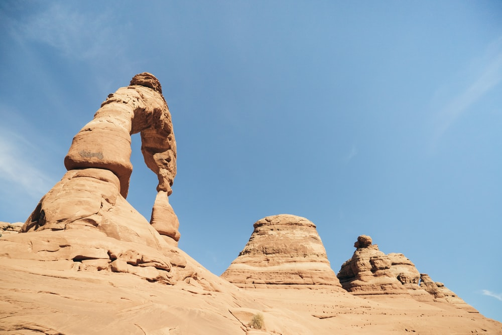 photography of brown rock formation