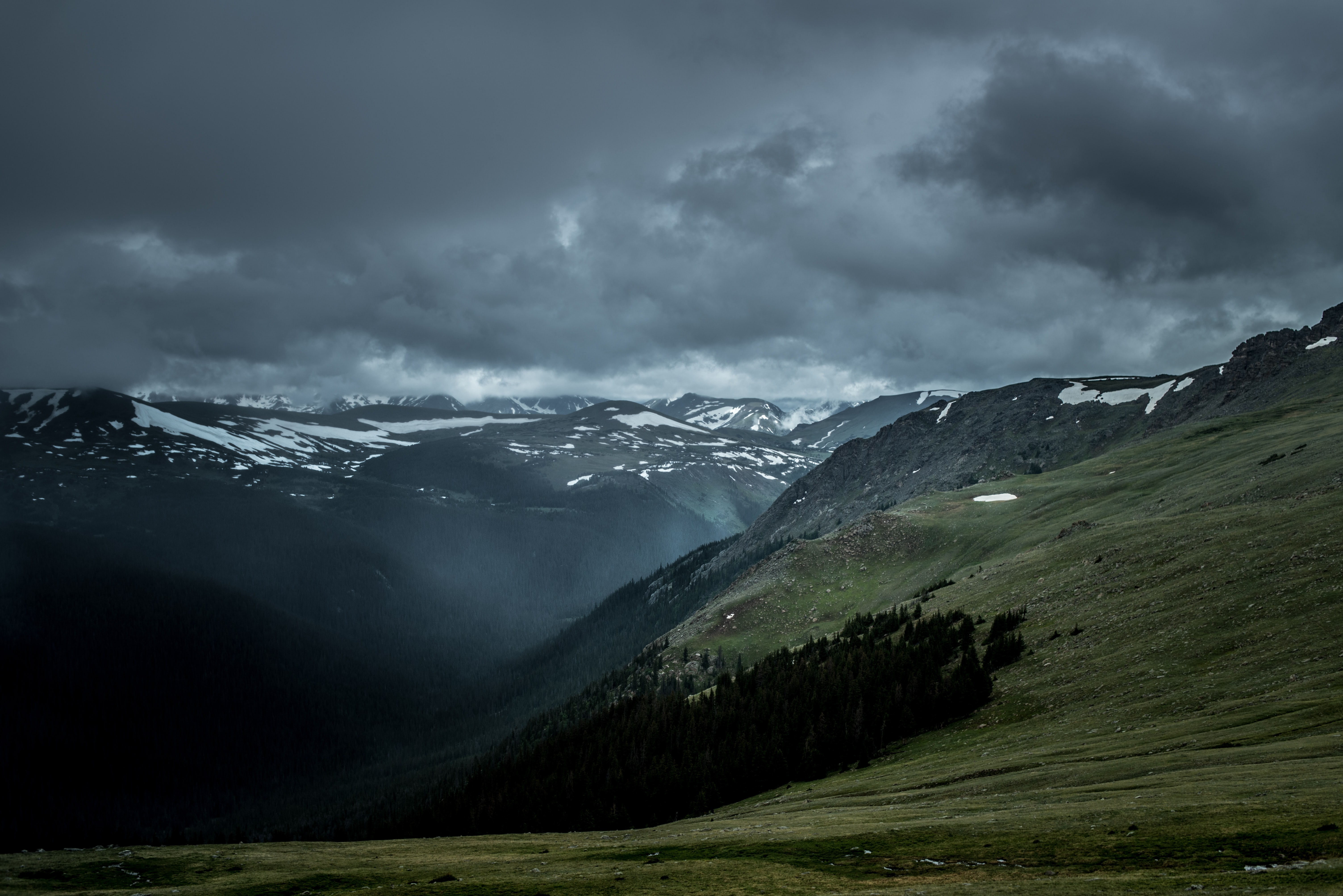 landscape photography of alps mountain