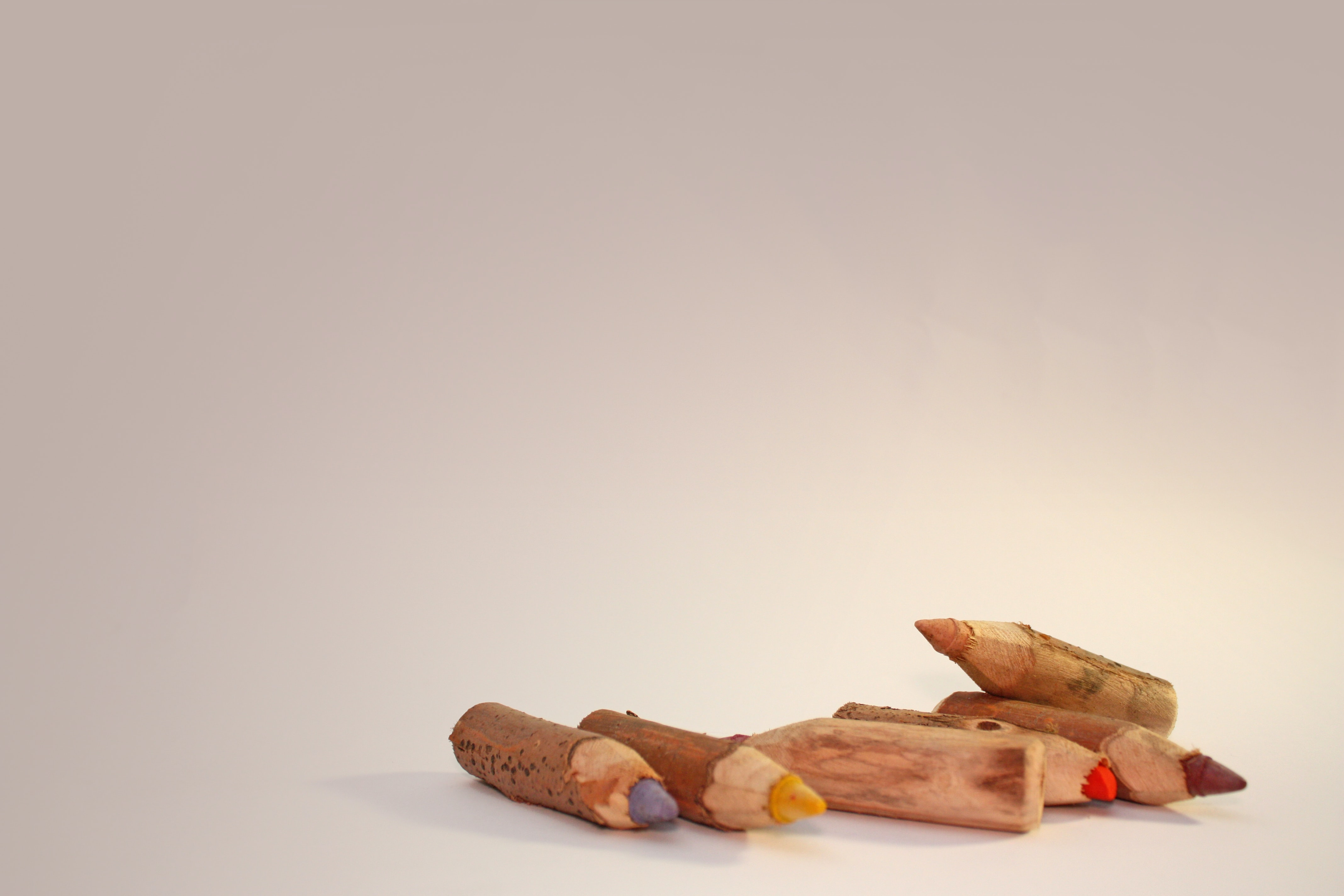 minimalist photography of colored pencils