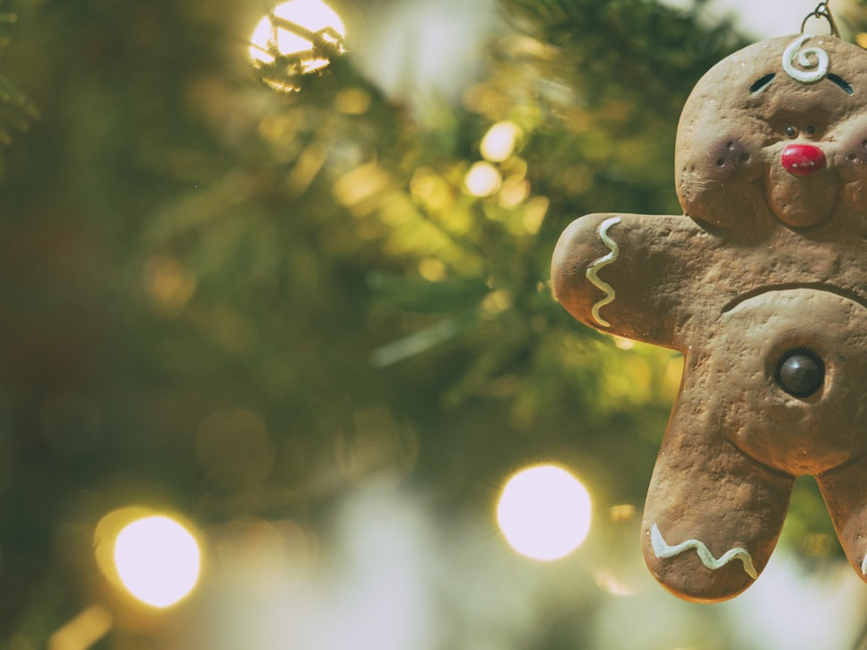 Felt Gingerbread Man Ornament | 51 Simple Christmas Ornaments You Can Start Sewing Today
