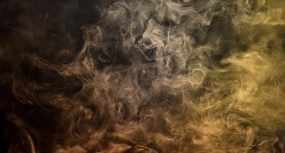 gray and yellow smoke