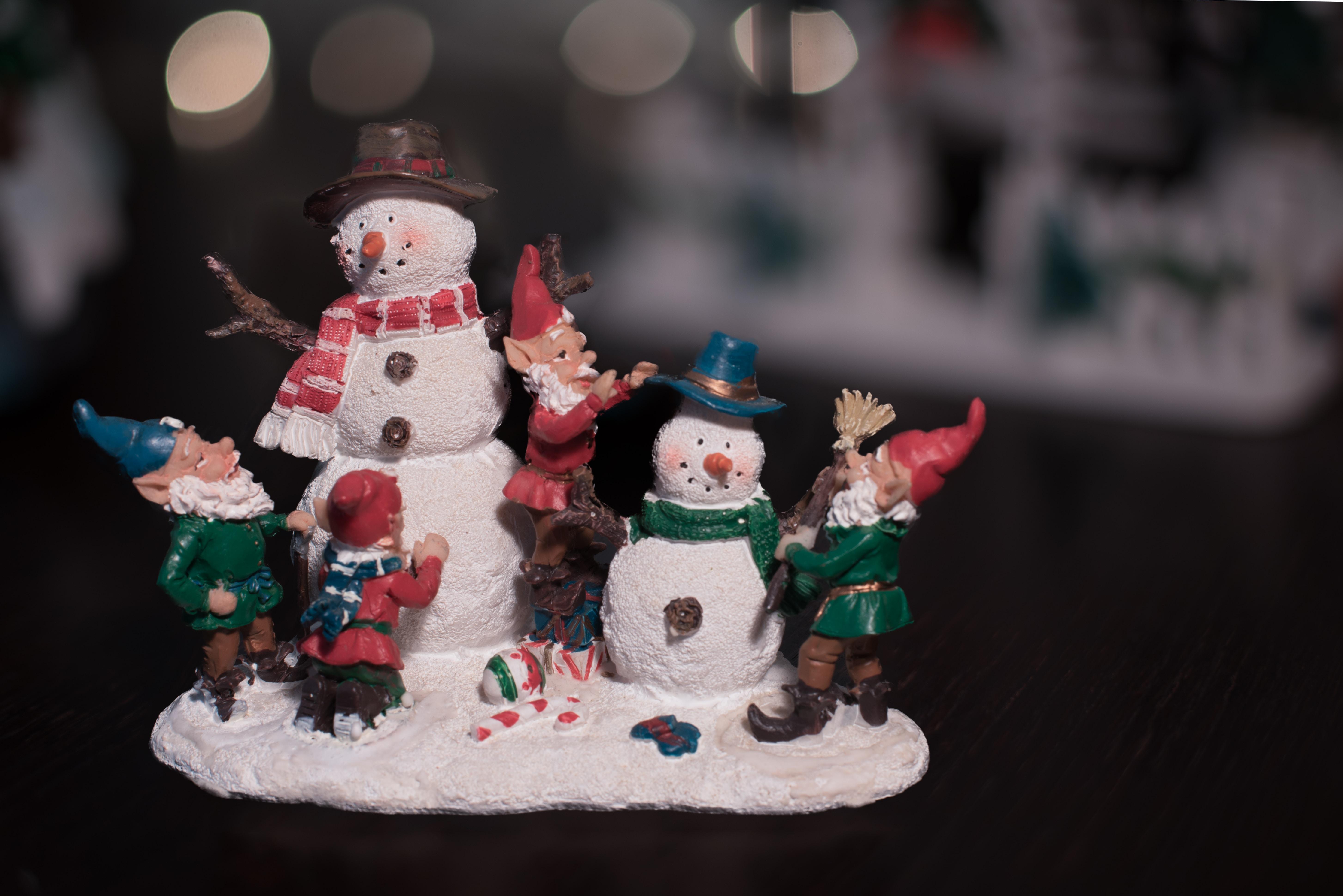 A snowman and gnomes XMAS ornament.