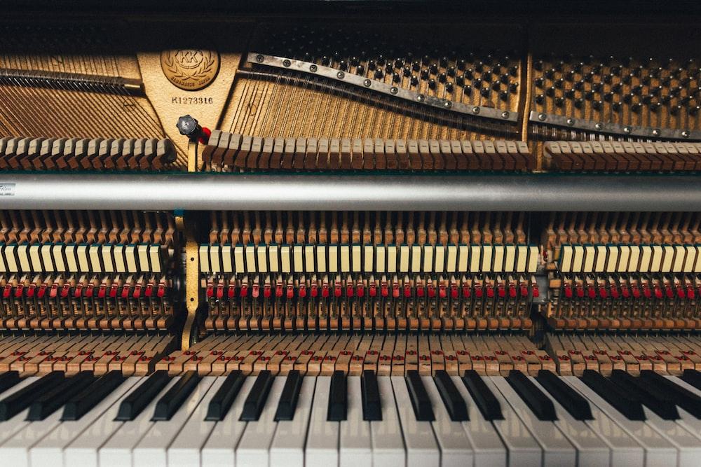 white piano keys