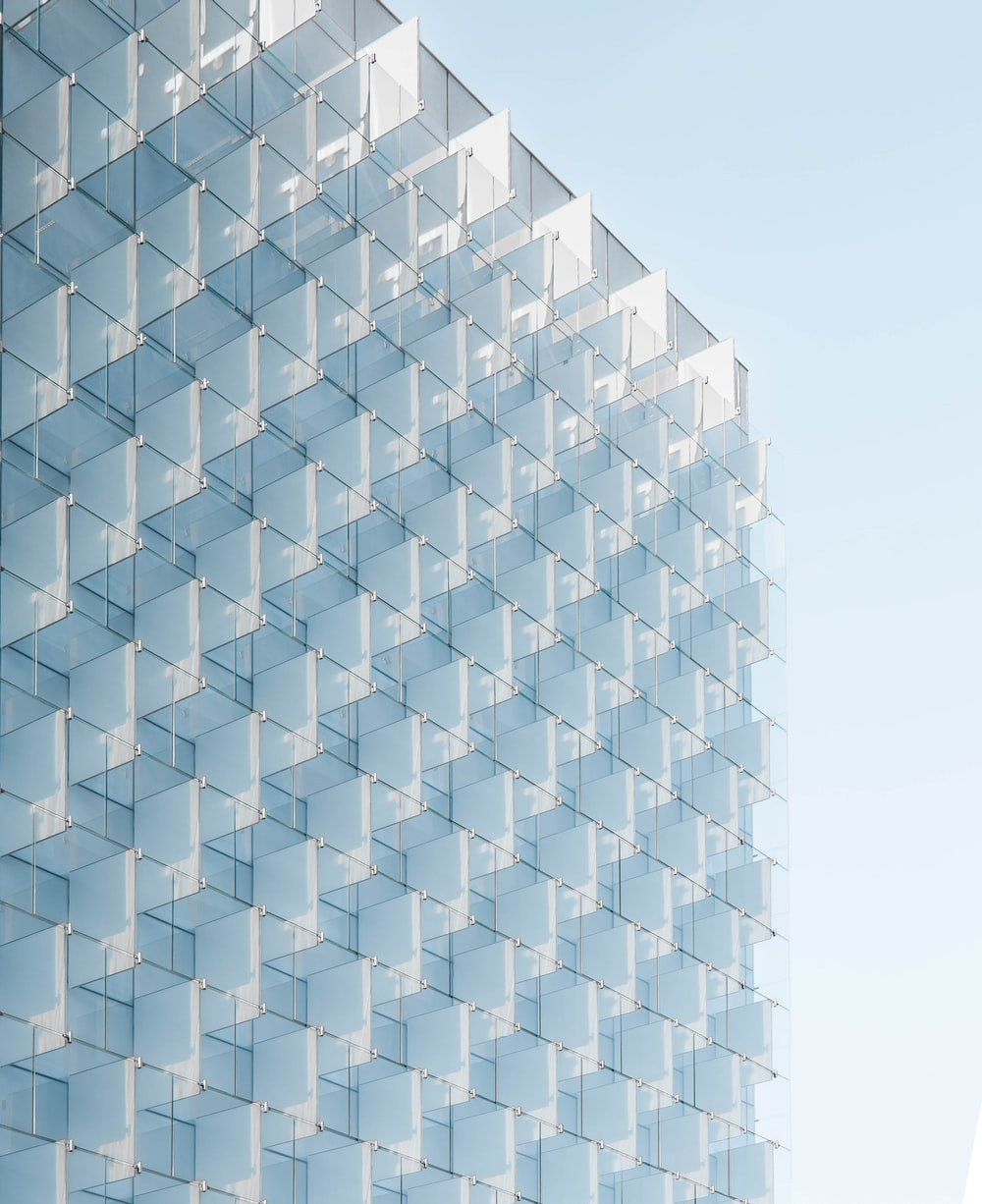 clear glass building