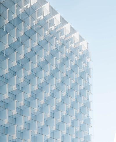 Regular glass facade