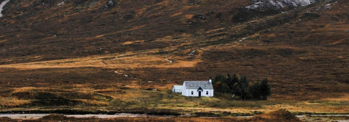 cabin near mountain