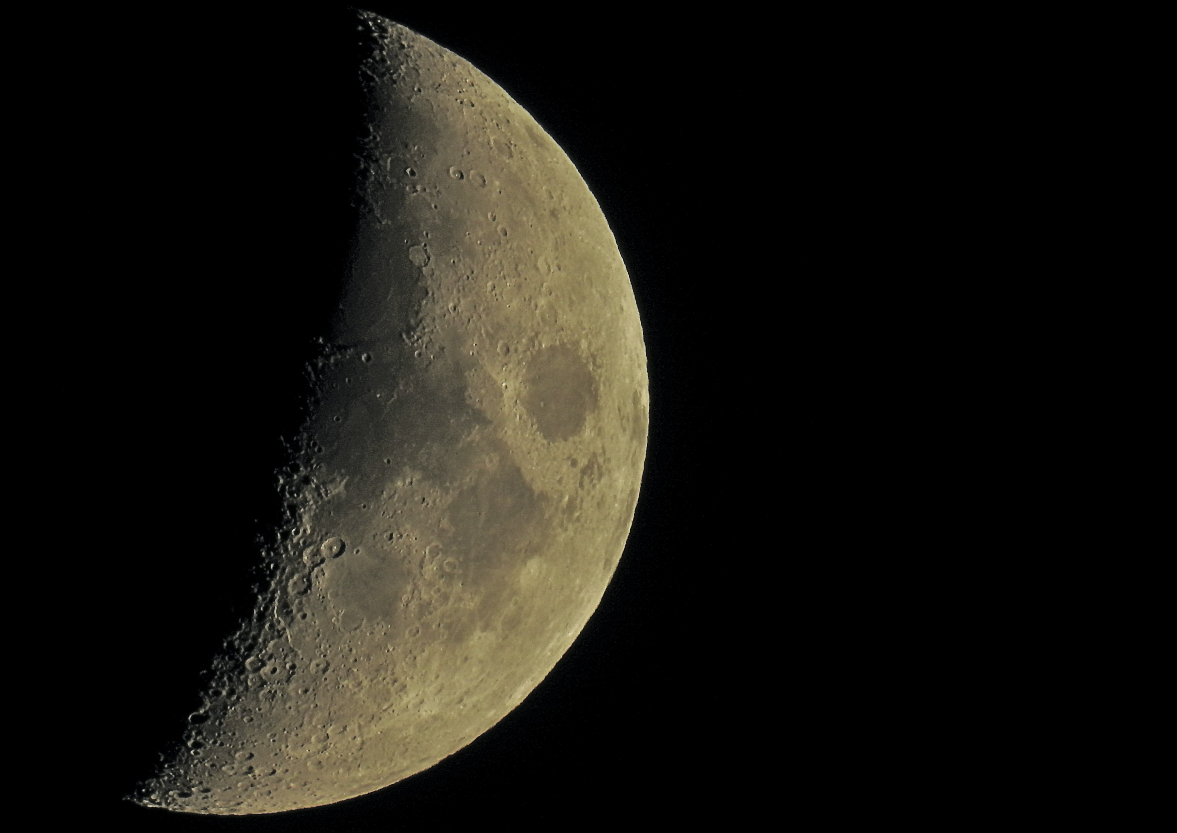 A close-up of the moon, taken from Lake District National Park