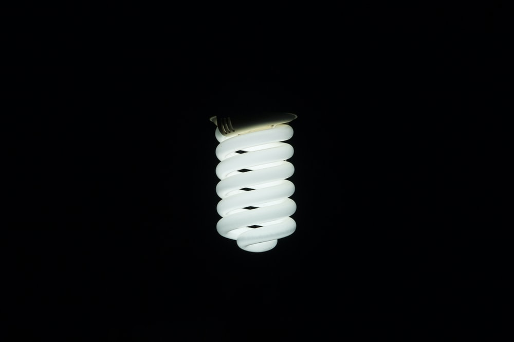 turned on light bulb