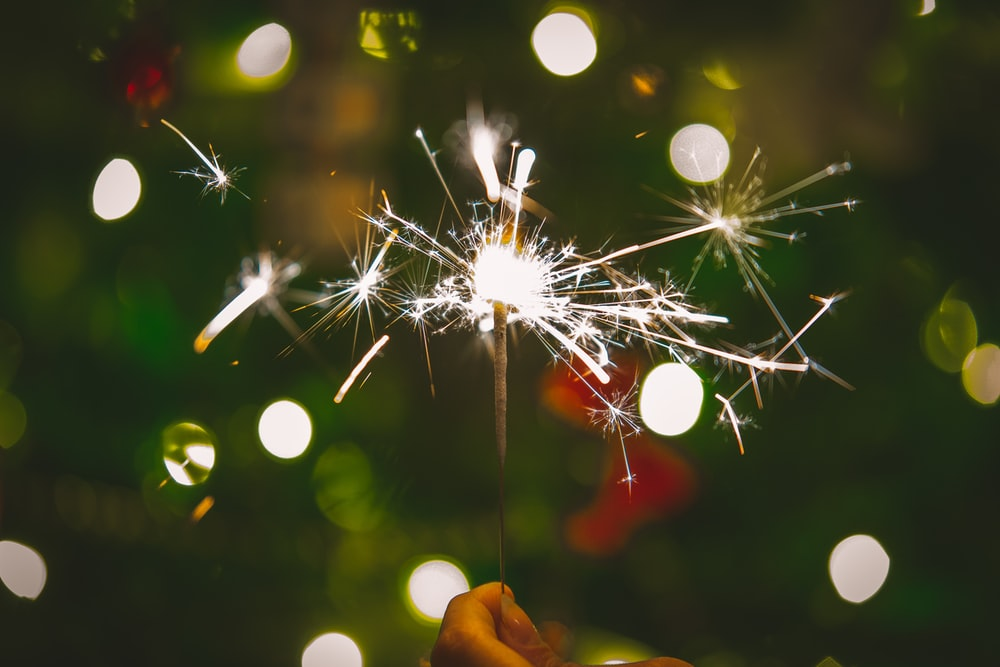 lighted sparkles