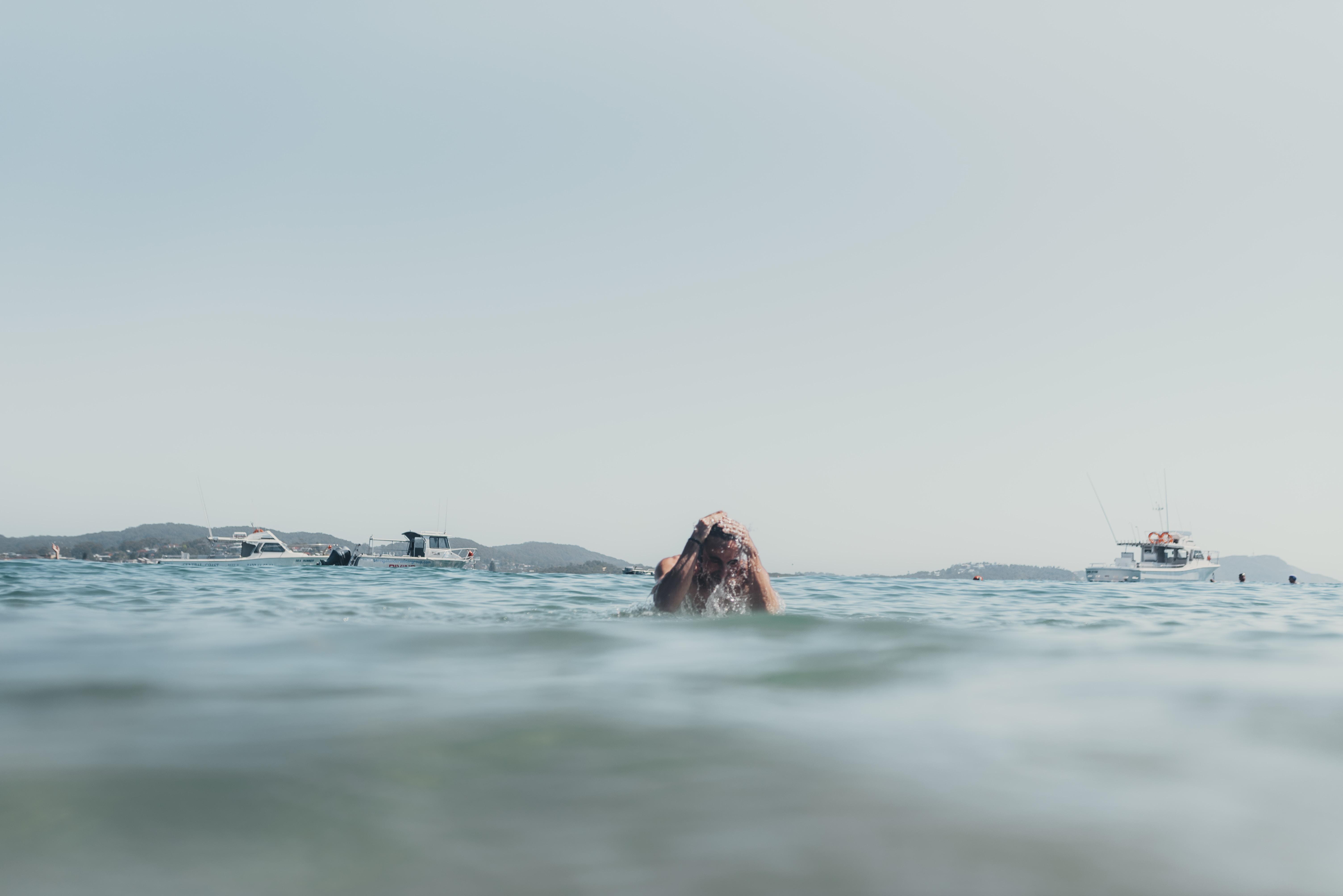 man on water during daytime