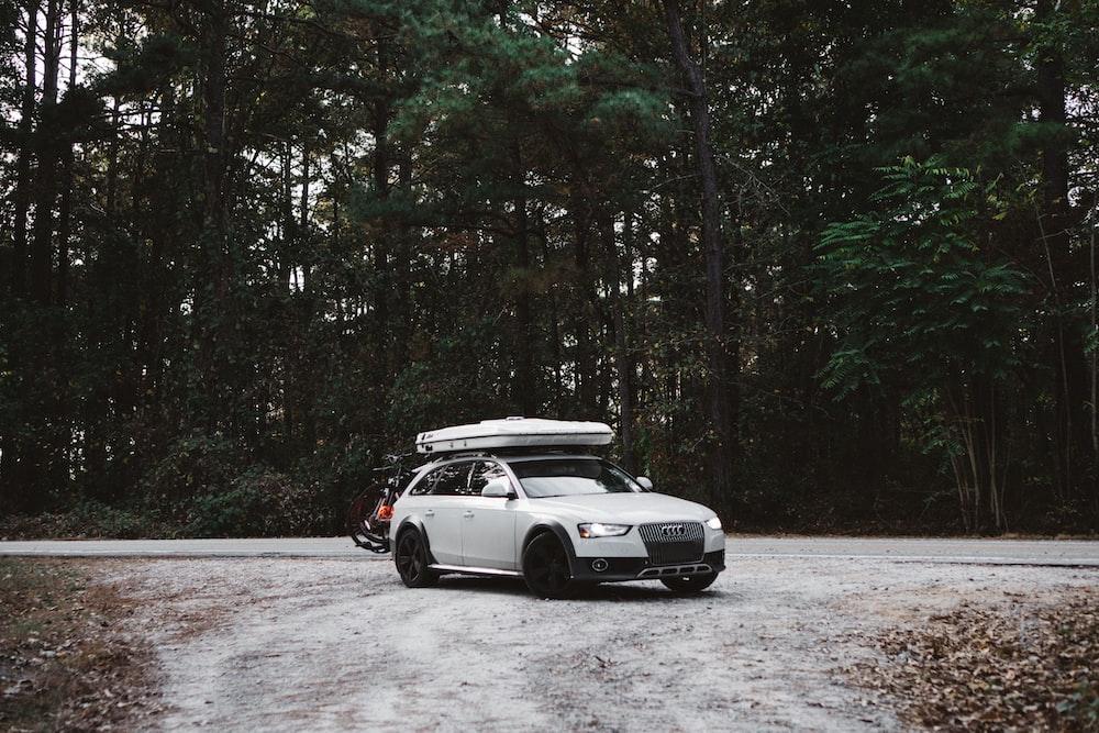 white 4-door hatchback