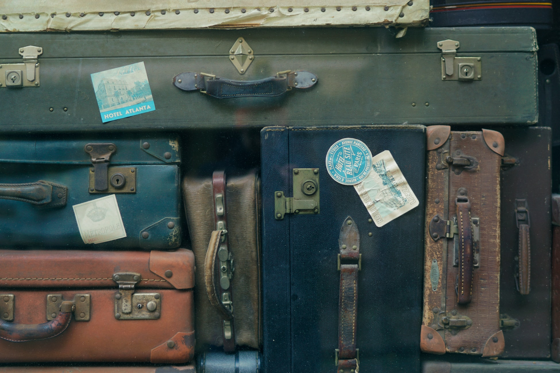 A collection of rusting bags - Budget Travel is Not a Facade