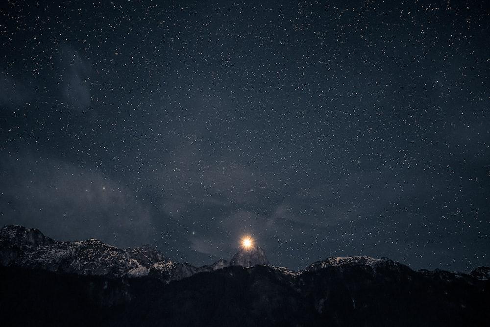 stars at night illustration
