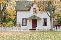 """Small house on an autumn\u2019s day"""