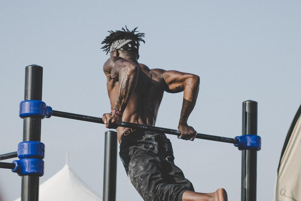 man doing gymnastic