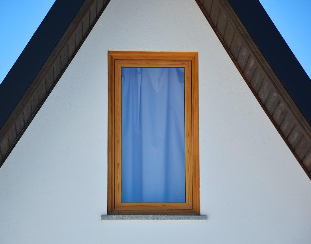 brown framed glass window illustration