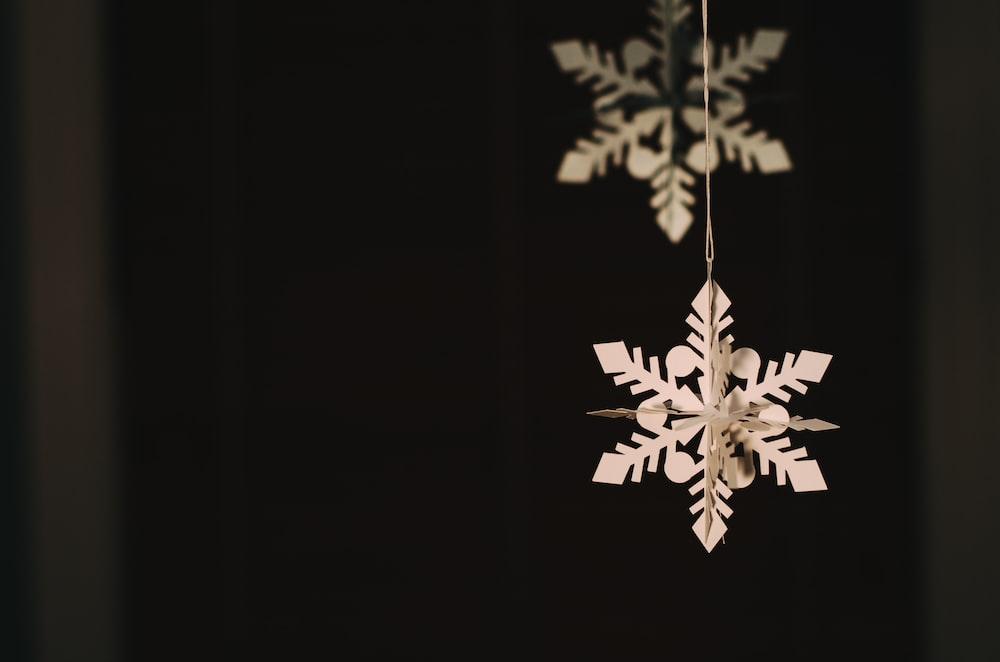 hanging snowflakes paper decor