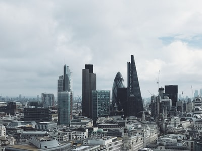 aerial view of building london zoom background