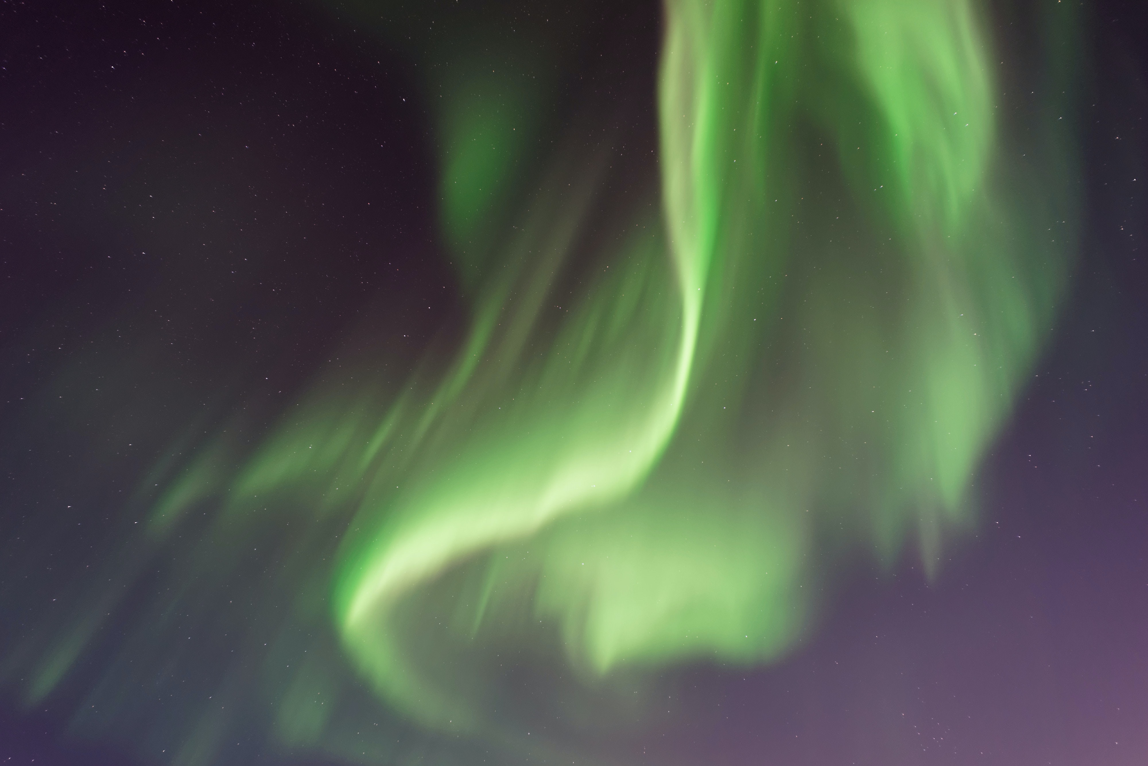 green aurora borialis