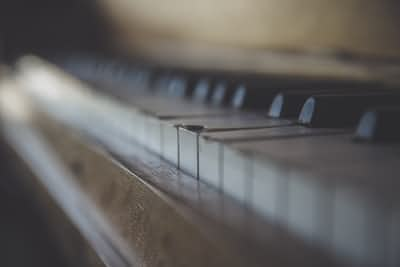 Piano in the room.  music stories