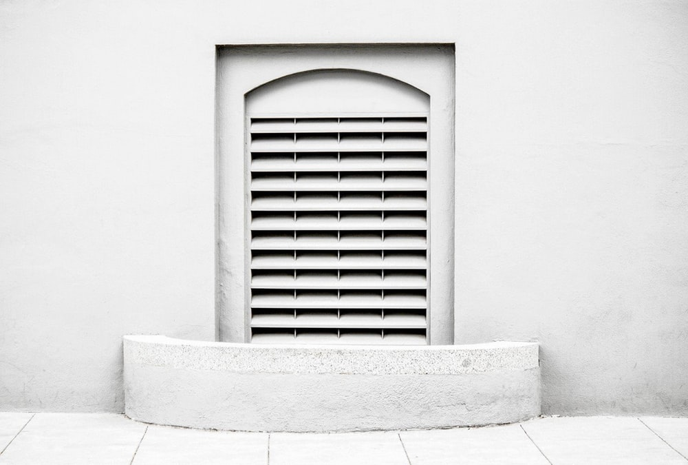 white door louver