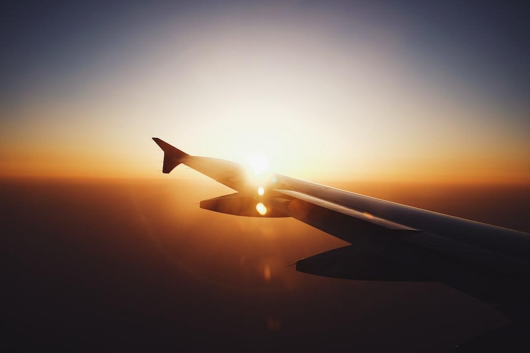 Sunset on plane