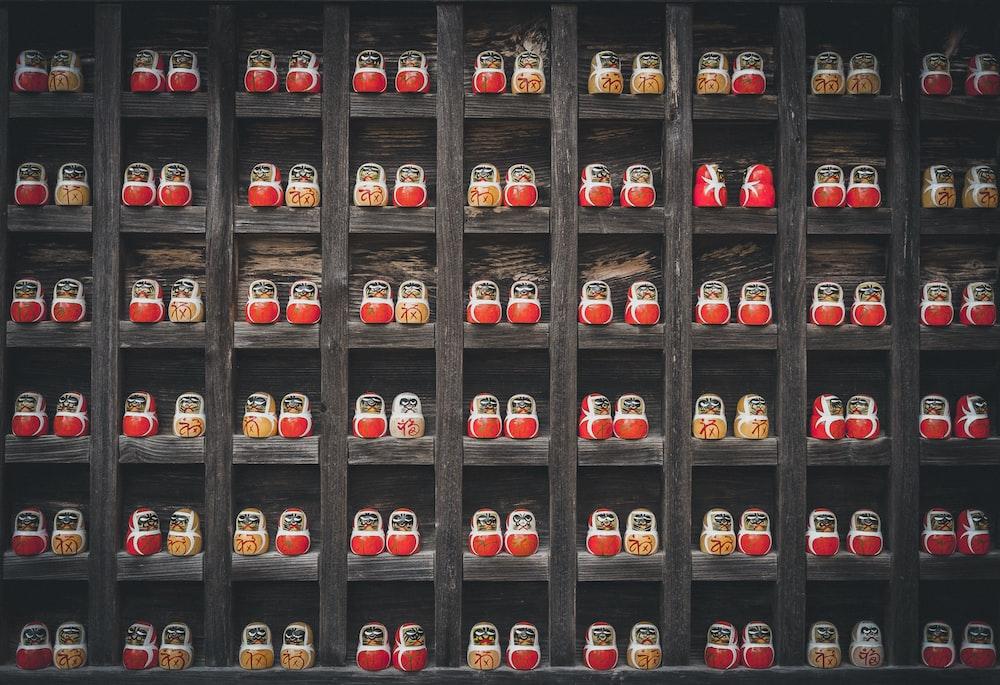 matryoshka doll lot on shelf