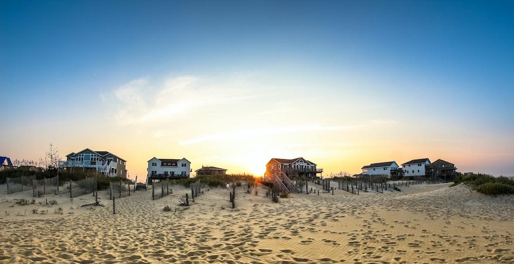 houses on seashore