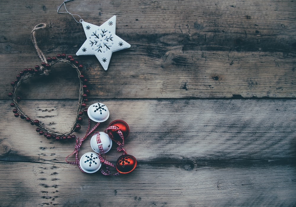 flat lay photography of several hanging ornaments