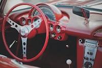 steering wheel red corvette