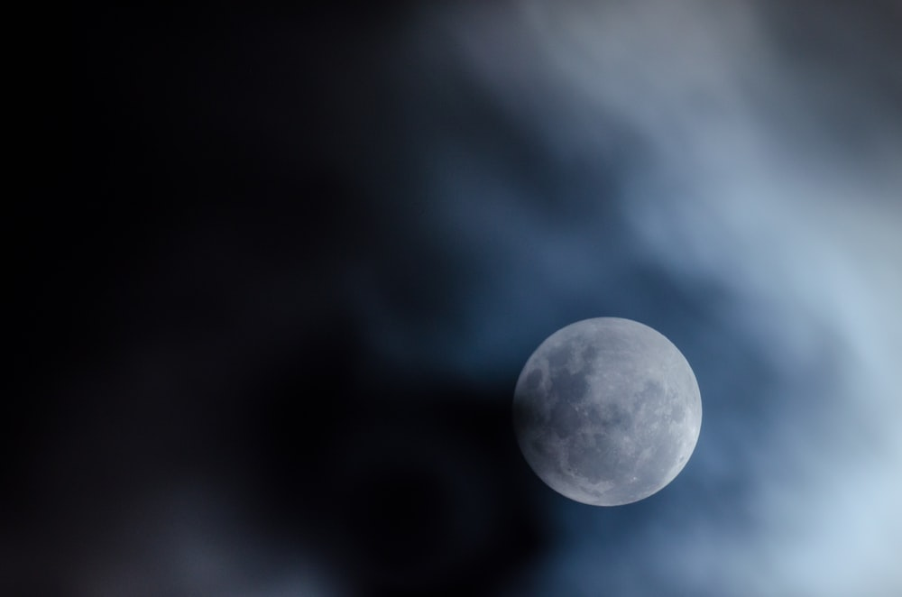 photo of moon and clouds