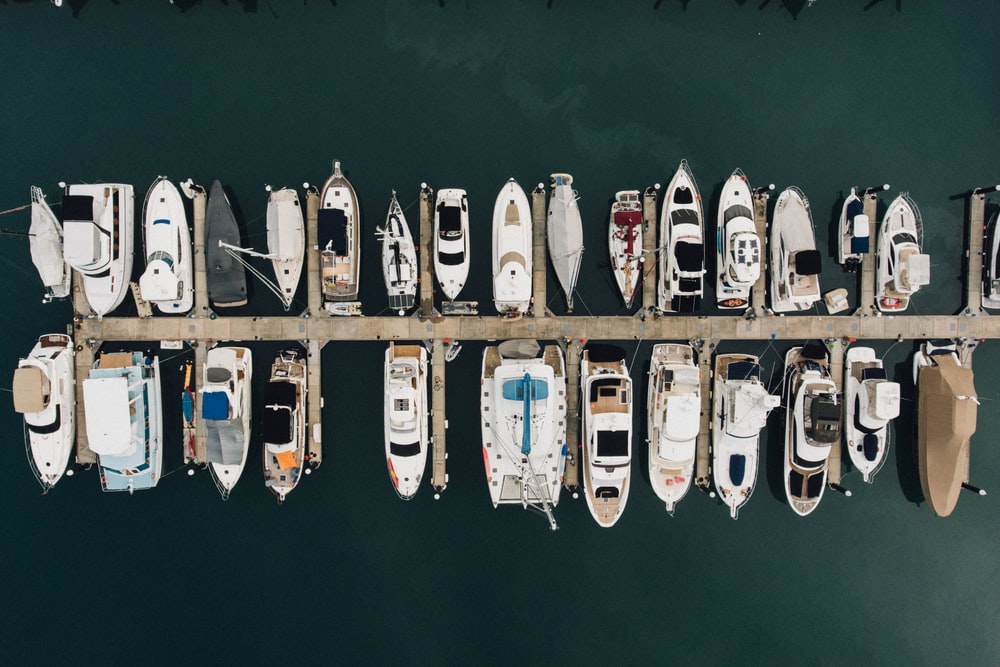 aerial photography of boat