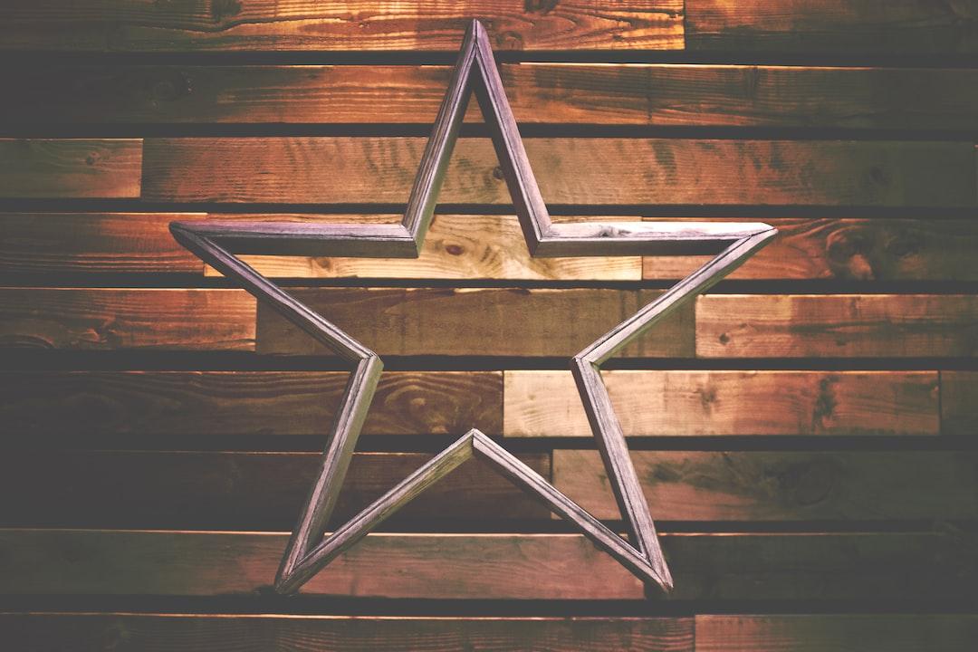 pink star ornament decor