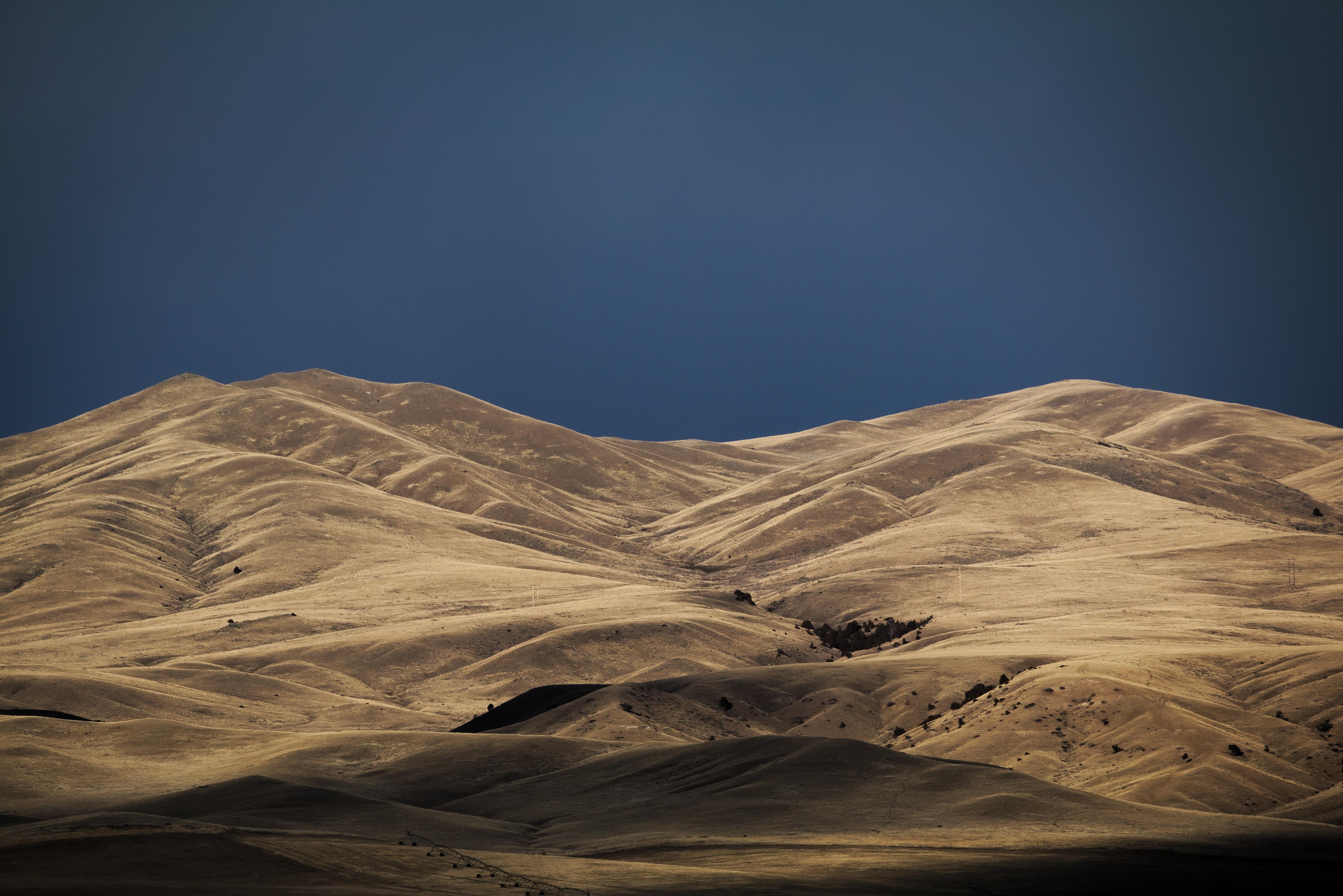 horizon of desert hill