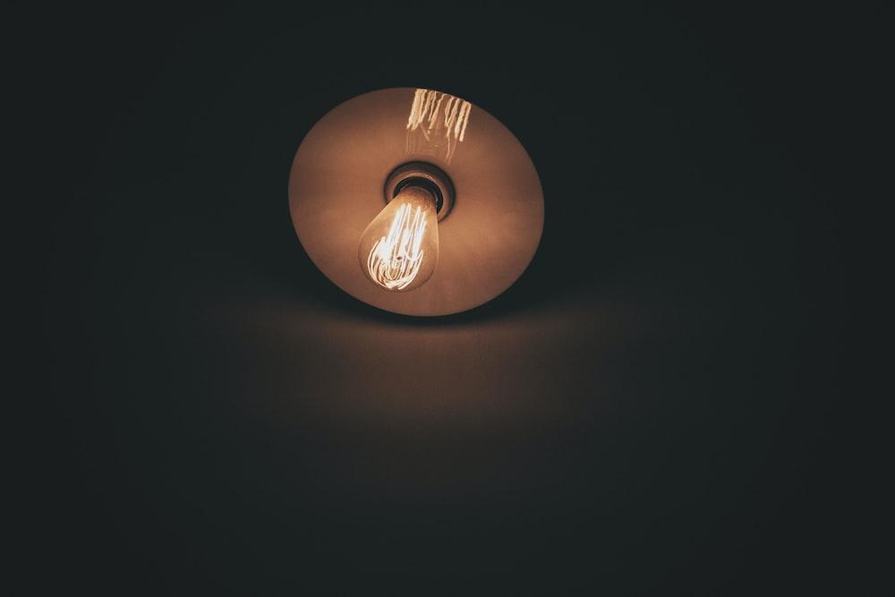 round brown LED light bulb